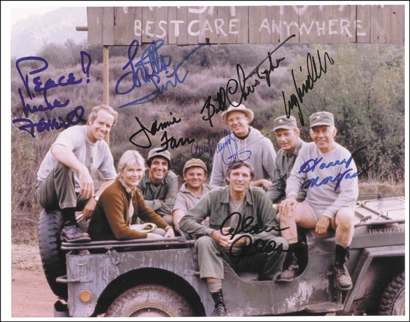 Image 1 for M*a*s*h TV Cast - Autographed Signed Photograph with co-signers - HFSID 264939
