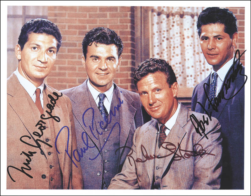Image 1 for Untouchables TV Cast - Autographed Signed Photograph co-signed by: Paul Picerni, Nick Georgiade, Abel Fernandez - HFSID 264999