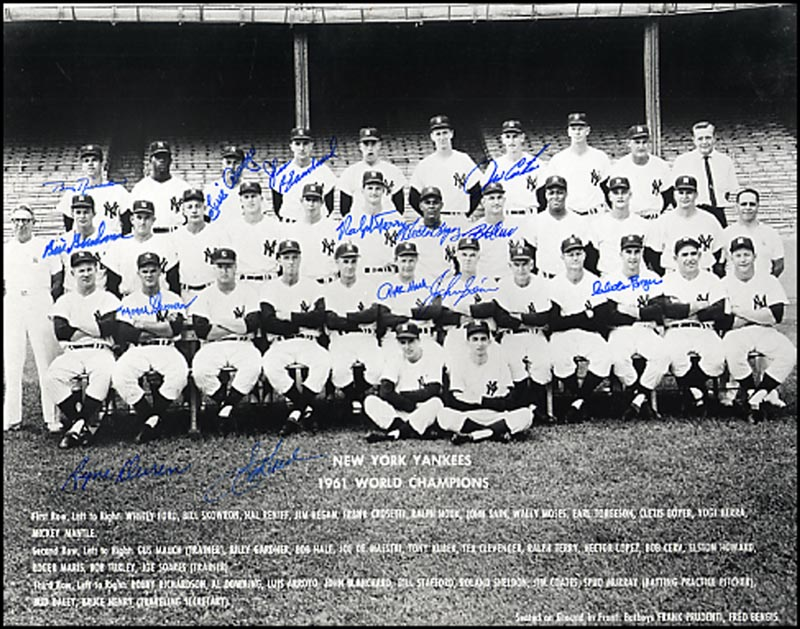 Image 1 for The 1961 New York Yankees - Autographed Signed Photograph with co-signers - HFSID 265044