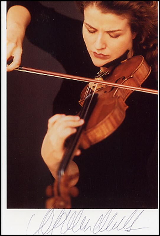 Image 1 for Anne Sophie Mutter - Autographed Signed Photograph - HFSID 265143