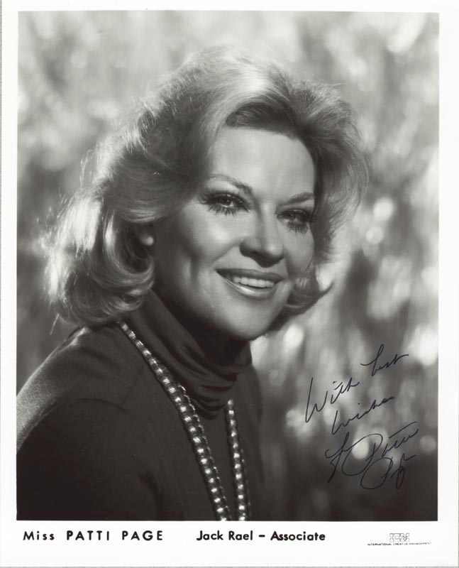 Image 1 for Patti Page - Autographed Signed Photograph - HFSID 265153