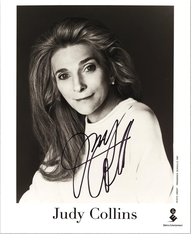 Image 1 for Judy Collins - Autographed Signed Photograph - HFSID 265158