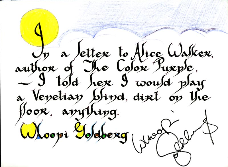 Image 1 for Whoopi Goldberg - Quotation Signed - HFSID 265283
