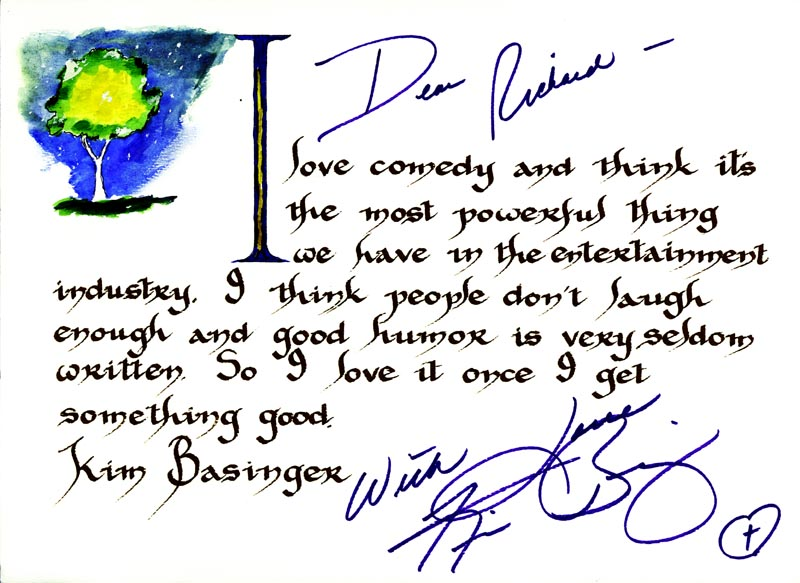 Image 1 for Kim Basinger - Inscribed Quotation Signed - HFSID 265287
