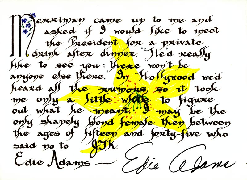 Image 1 for Edie Adams - Quotation Signed - HFSID 265289