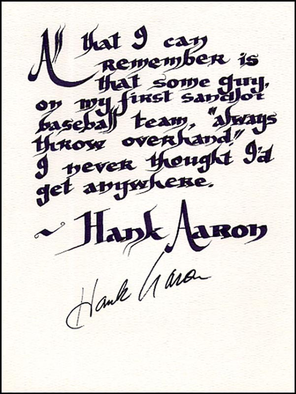Image 1 for Hank Aaron - Quotation Signed - HFSID 265312