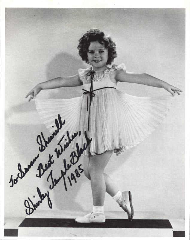 Image 1 for Shirley Temple - Inscribed Book Photograph Signed 1985 - HFSID 265398