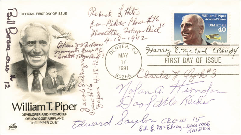 Image 1 for Doolittle Raiders - First Day Cover Signed with co-signers - HFSID 265623