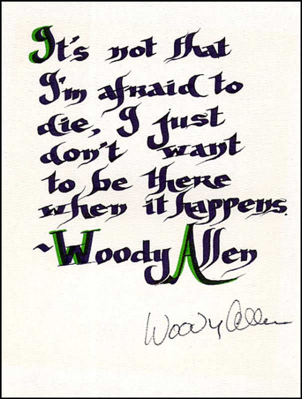 Image 1 for Woody Allen - Quotation Signed - HFSID 265626