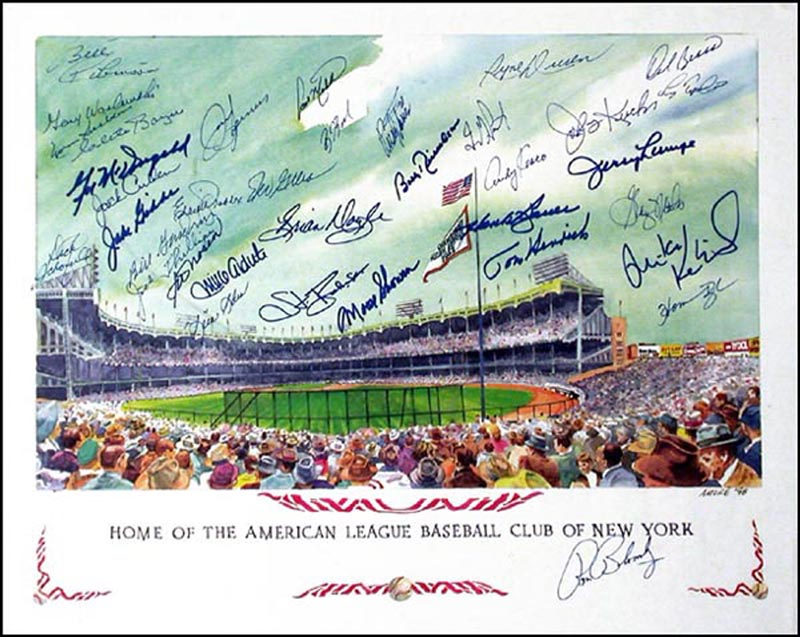 Image 1 for The New York Yankees - Autographed Signed Poster Circa 1998 with co-signers - HFSID 265647