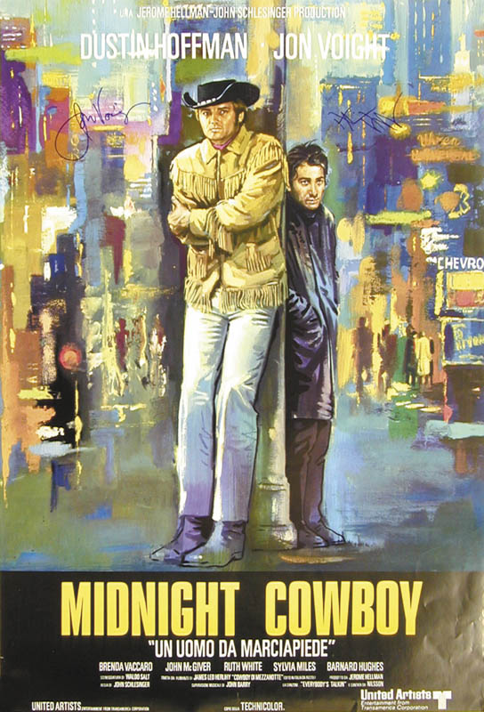 Image 4 for Midnight Cowboy Movie Cast - Autographed Signed Poster co-signed by: Dustin Hoffman, Jon Voight - HFSID 265649