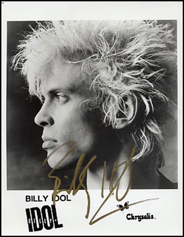 Billy Idol Autographed Signed Photograph Historyforsale Item