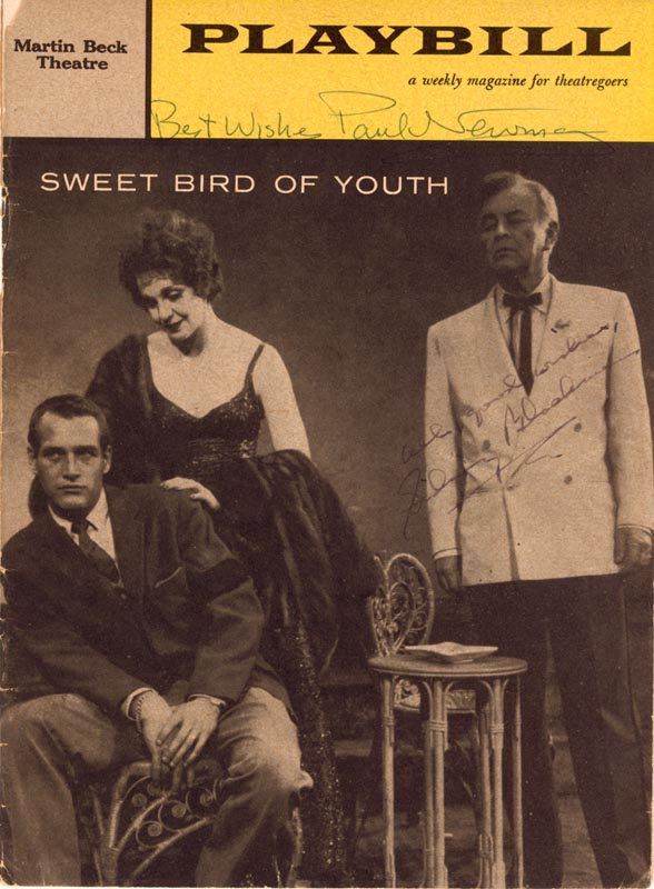 Image 1 for Sweet Bird Of Youth Broadway Cast - Show Bill Signed Circa 1959 co-signed by: Paul Newman, Sidney Blackmer - HFSID 266178
