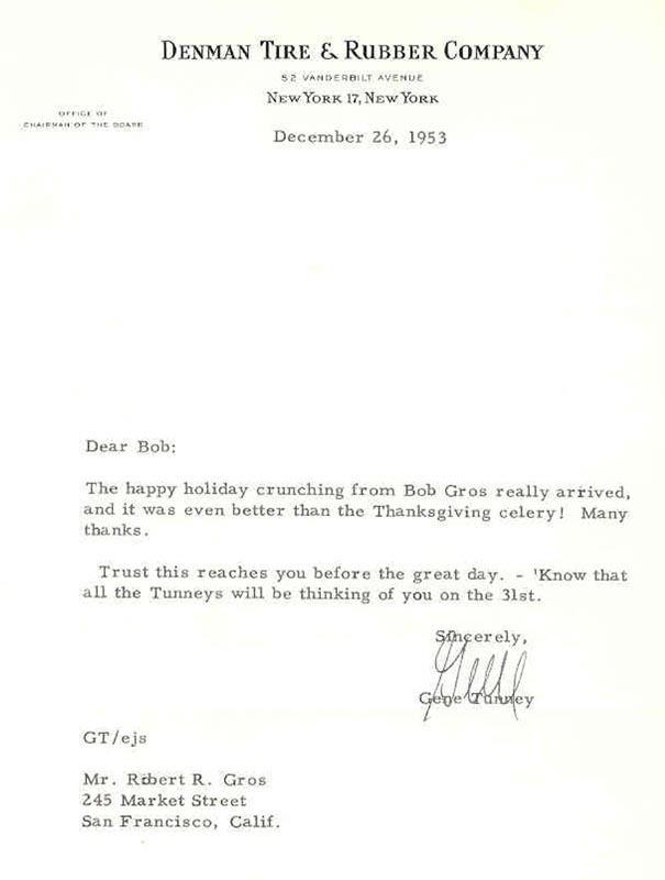 Image 1 for Gene Tunney - Typed Letter Signed 12/26/1953 - HFSID 266267
