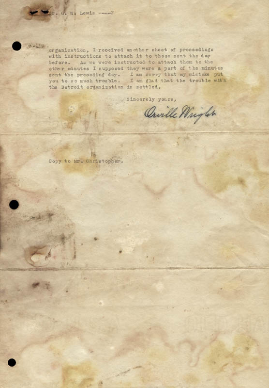 Image 1 for Orville Wright - Typed Letter Signed 05/29/1930 - HFSID 266277