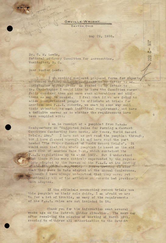 Image 3 for Orville Wright - Typed Letter Signed 05/29/1930 - HFSID 266277