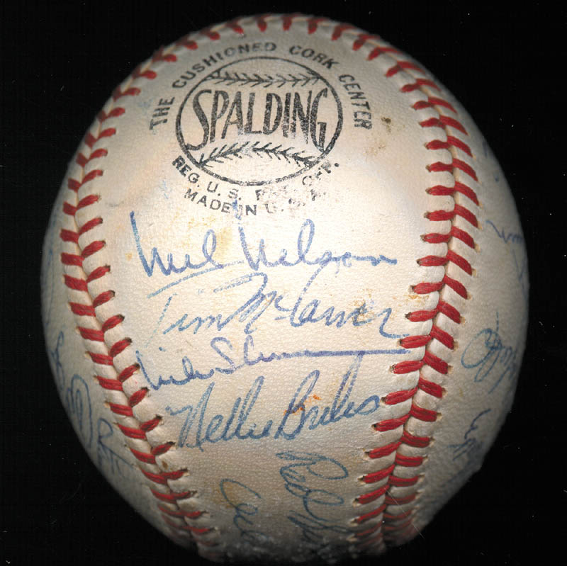 Image 3 for The St. Louis Cardinals - Autographed Signed Baseball Circa 1968 with co-signers - HFSID 266383