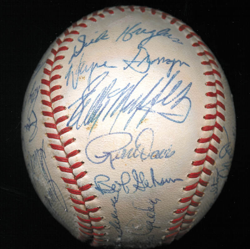 Image 4 for The St. Louis Cardinals - Autographed Signed Baseball Circa 1968 with co-signers - HFSID 266383