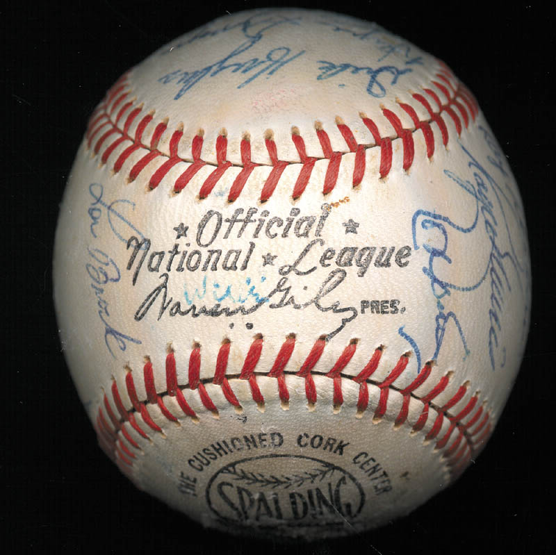 Image 5 for The St. Louis Cardinals - Autographed Signed Baseball Circa 1968 with co-signers - HFSID 266383