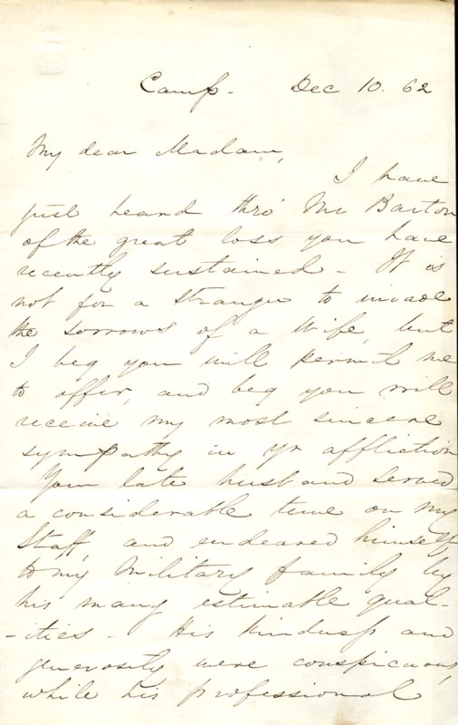 Image 3 for Major General George Sykes - Autograph Letter Signed 12/10/1862 - HFSID 266392