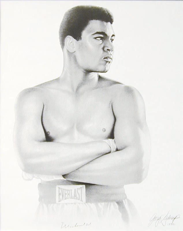 Image 3 for Muhammad 'The Greatest' Ali - Printed Art Signed In Ink Circa 1992 co-signed by: Gary Saderup - HFSID 266429