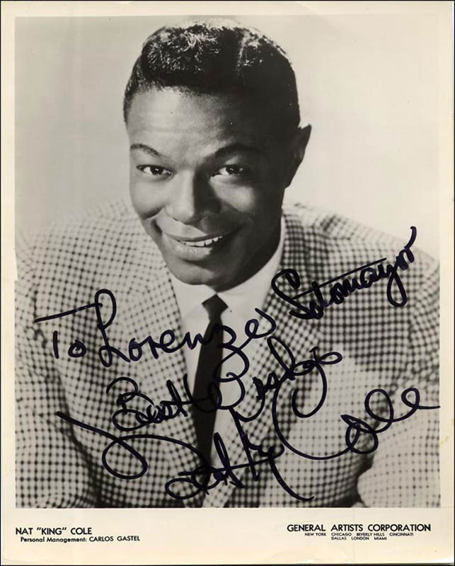 Image 1 for Nat King Cole - Autographed Inscribed Photograph - HFSID 266603