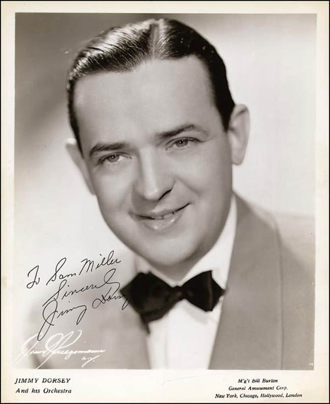 Image 1 for Jimmy Dorsey - Autographed Inscribed Photograph - HFSID 266609