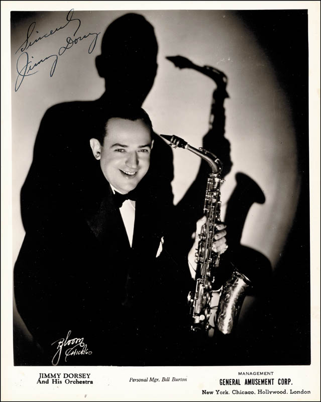 Image 1 for Jimmy Dorsey - Autographed Signed Photograph - HFSID 266610