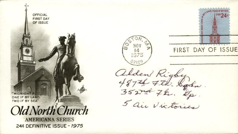 Image 1 for Alden Rigby - First Day Cover Signed - HFSID 266850