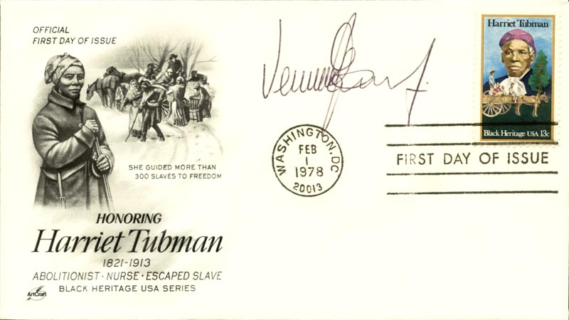 Image 1 for Vernon E. Jordan Jr. - First Day Cover Signed - HFSID 267009