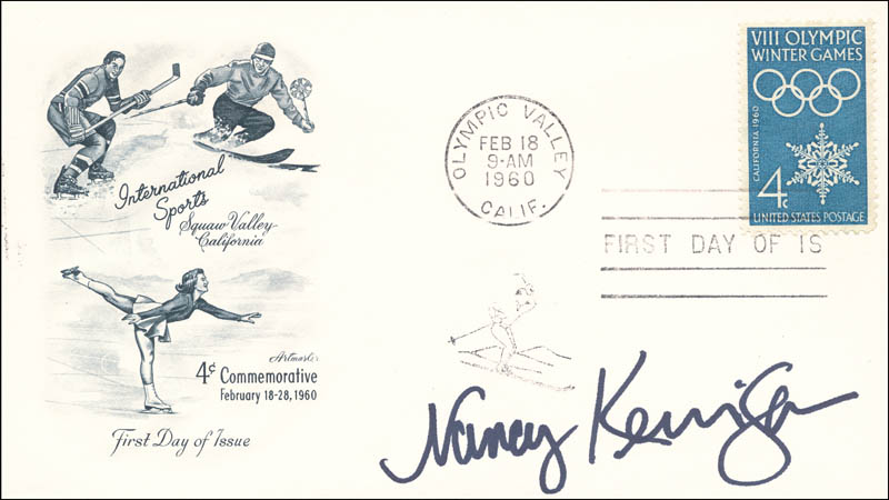 Image 1 for Nancy Kerrigan - First Day Cover Signed - HFSID 267022