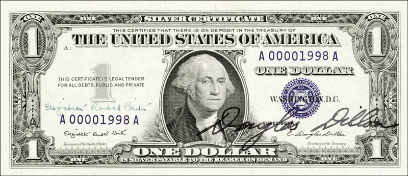 How Much Is A Silver Certificate Dollar Worth 1957 - Best Design ...