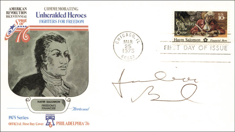 Image 1 for Julian Bond - First Day Cover Signed - HFSID 267103
