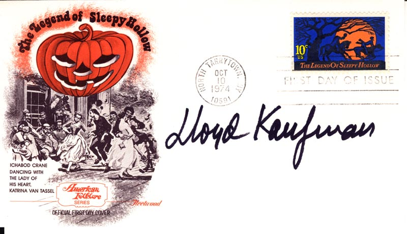 Image 1 for Lloyd Kaufman - First Day Cover Signed - HFSID 267157