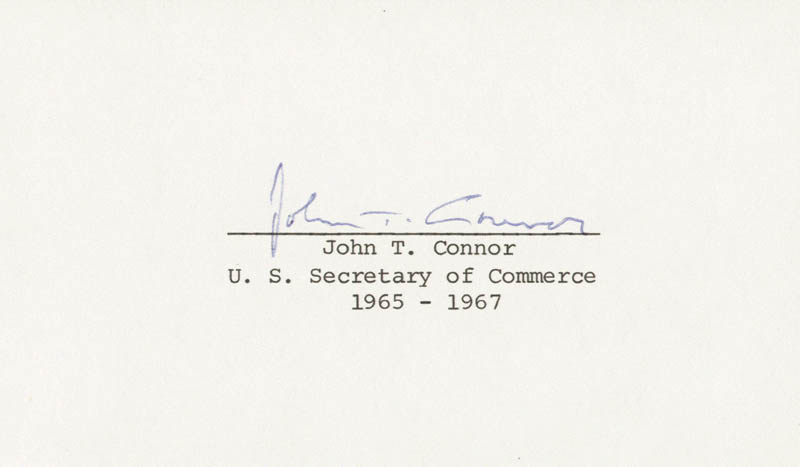 Image 1 for John T. Connor - Autograph - HFSID 26717