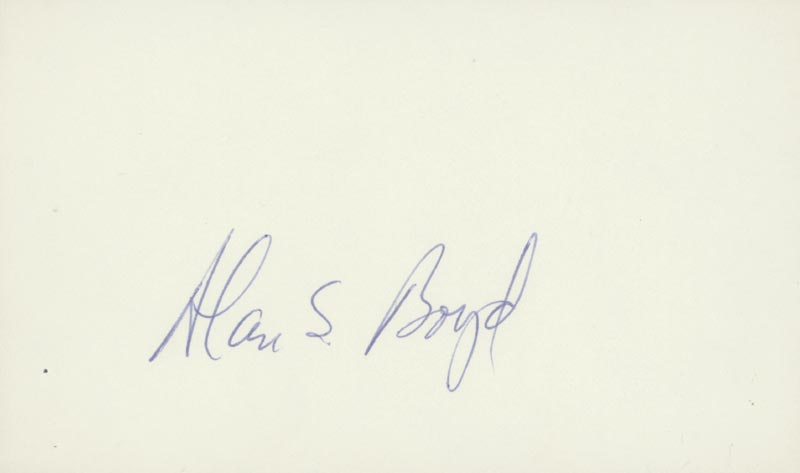 Image 1 for Alan S. Boyd - Autograph - HFSID 26727