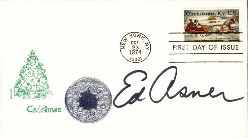 Image 1 for Ed Asner - First Day Cover Signed - HFSID 267297
