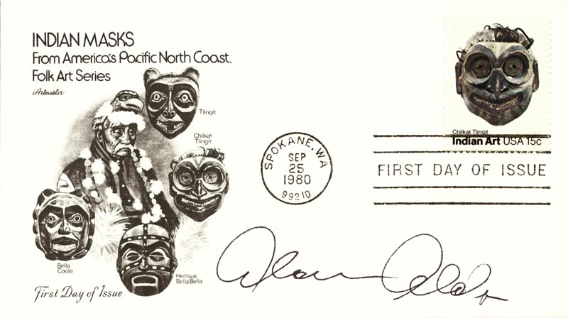Image 1 for Alan Alda - First Day Cover Signed - HFSID 267298