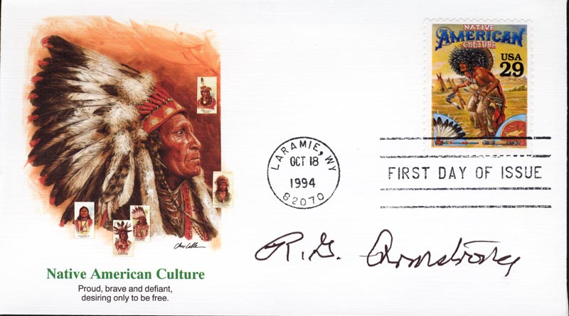 Image 1 for R. G. (Robert Golden) Armstrong - First Day Cover Signed - HFSID 267303