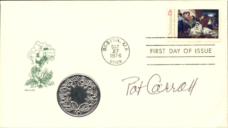 Image 1 for Pat Carroll - First Day Cover Signed - HFSID 267320