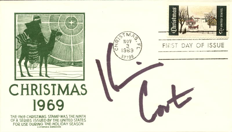Image 1 for Kevin Costner - First Day Cover Signed - HFSID 267325