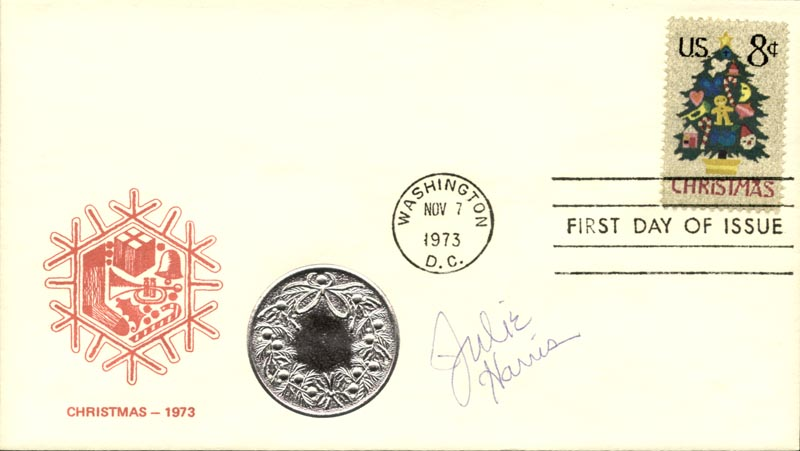 Image 1 for Julie Harris - First Day Cover Signed - HFSID 267343