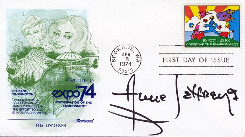 Image 1 for Anne Jeffreys - First Day Cover Signed - HFSID 267352