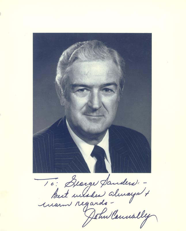 Image 1 for John B. Connally Jr. - Autographed Inscribed Photograph - HFSID 26736