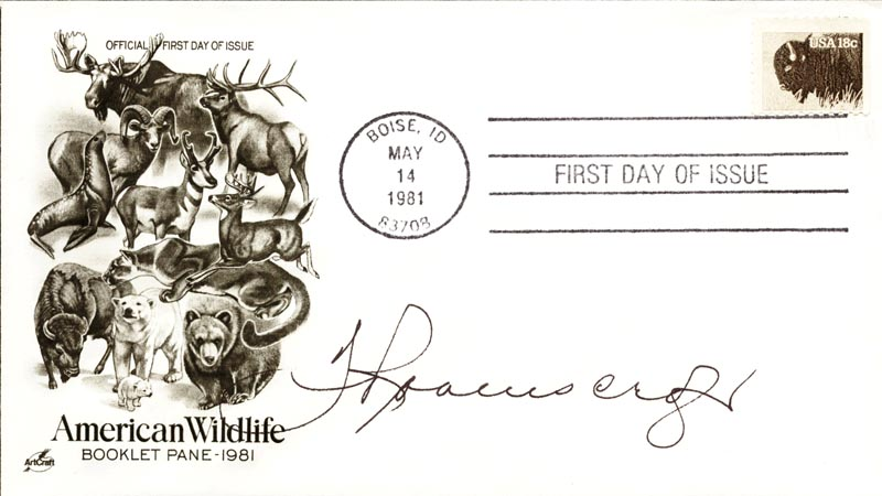 Image 1 for Thurl Ravenscroft - First Day Cover Signed - HFSID 267414