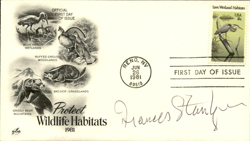 Image 1 for Frances Sternhagen - First Day Cover Signed - HFSID 267445