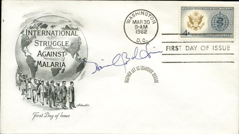 Image 1 for David Baltimore - First Day Cover Signed - HFSID 267666