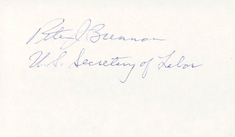 Image 1 for Peter Brennan - Autograph - HFSID 26783