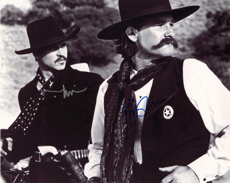 5166ecce72 TOMBSTONE MOVIE CAST - PHOTOGRAPH SIGNED CO-SIGNED BY  KURT RUSSELL