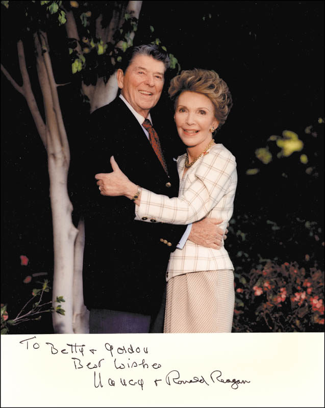 Image 1 for President Ronald Reagan - Autographed Inscribed Photograph co-signed by: First Lady Nancy Davis Reagan - HFSID 268134